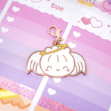 Love Is In The Air - Steamie Angel Rose Gold Glitter Enamel Charm