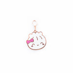 Rose Gold Enamel Steamie Charm