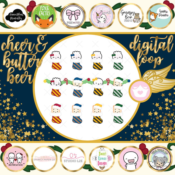 [DOWNLOAD] Wizard Christmas Digital Diecut Downloads - Cyber Monday Special!