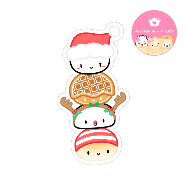 Holiday Bao Totem Diecut Bookmark Sticker