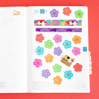Crazy Rich Flowers Overlap Petals (100 Stickers with Gold Foiling)