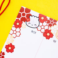 "Lucky Floral Notepad (6x9"") (50 sheets)"