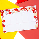 "[DAY 12] Lucky Floral Notepad (6x9"")"