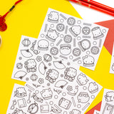 [DAY 14] Coloring Cards (Set Of 8)