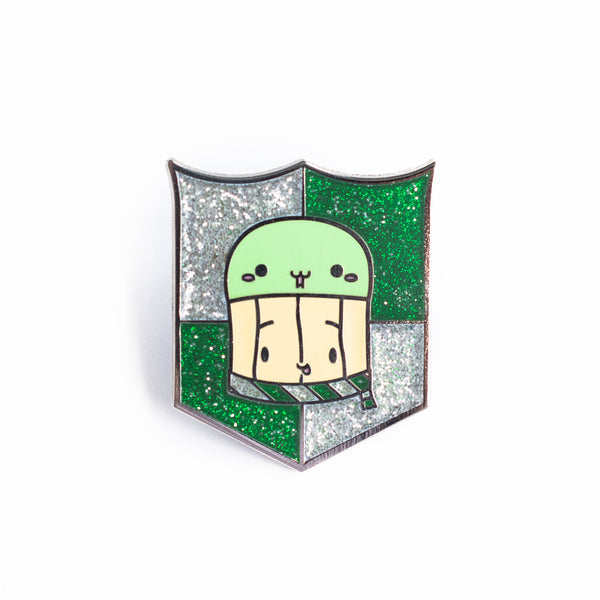 Suey's Slytherin Hat Badge Glitter Enamel Pin