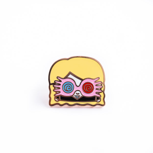 Luna Lovegood Rose Gold Enamel Pin