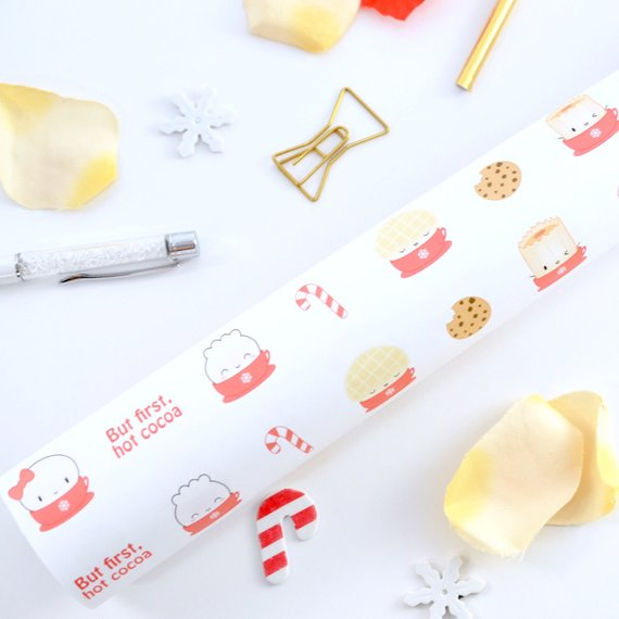 Hot Cocoa Gift Wrap (3 Sheets)