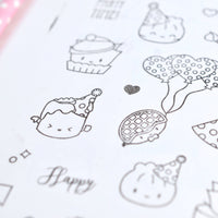 "Clear Stamps - ""Party Time"""