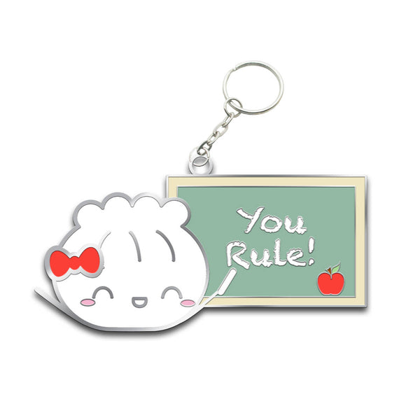 "Back To School ""You Rule!"" Steamie Keychain"