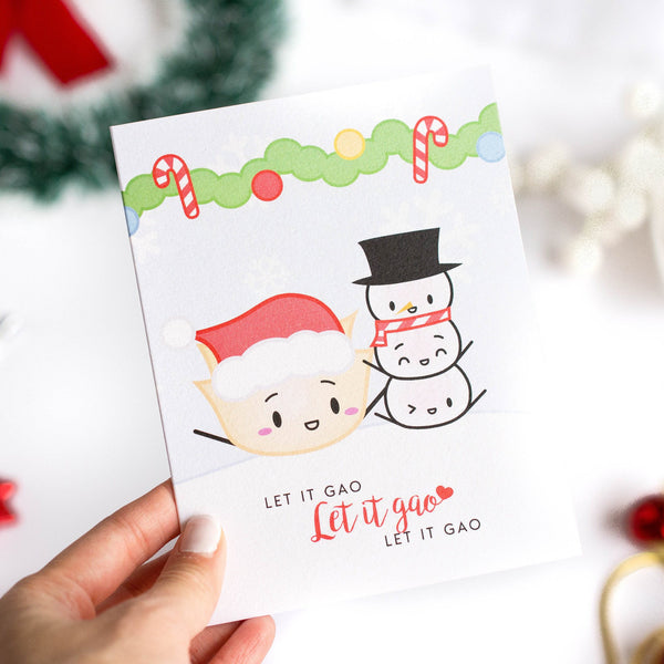 "Holiday Card - ""Let It Gao Let It Gao Let It Gao"""
