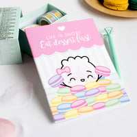 Steamie Loves Macarons Notebook (B6/Pocket - Blank/Dot Grid Pages)