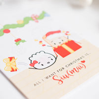 "Holiday Card - ""All I Want For Christmas Is Siu(mai)"""