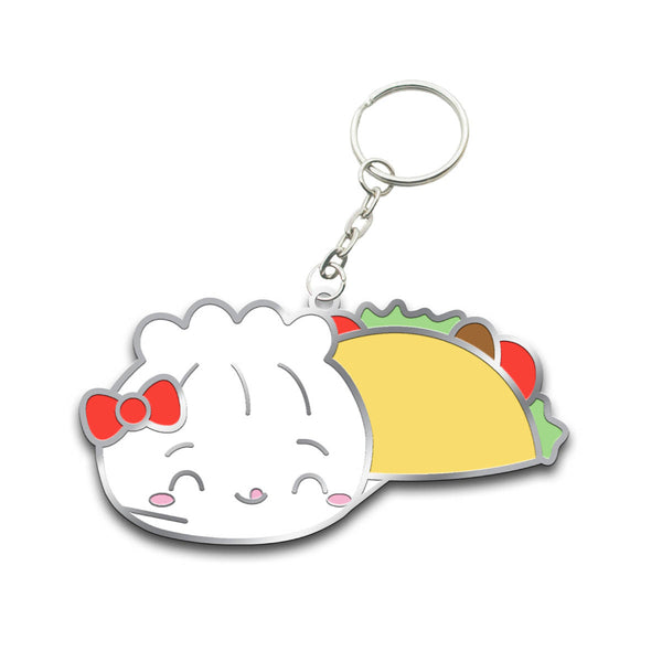 Steamie Loves Tacos Keychain