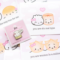 Punny Dimsum Enamel Pins (Set Of 4)