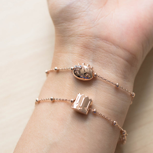 Rose Gold Besties Friendship Bracelets
