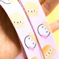 Pink Steam Team Lanyard Rose Gold Keychain