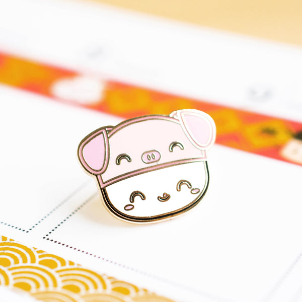 "Lunar New Year Enamel Pin - Steamie's ""Year Of The Pig"" Hat"