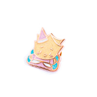 Wonton Upon A Time - Wonton Fairy Glitter Rose Gold Enamel Pin