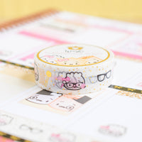 Planner Nerd Washi - Gold Foiled on White (15mm)