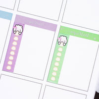 Functional Green Dumpling Checklist Vertical Washi (10mm)