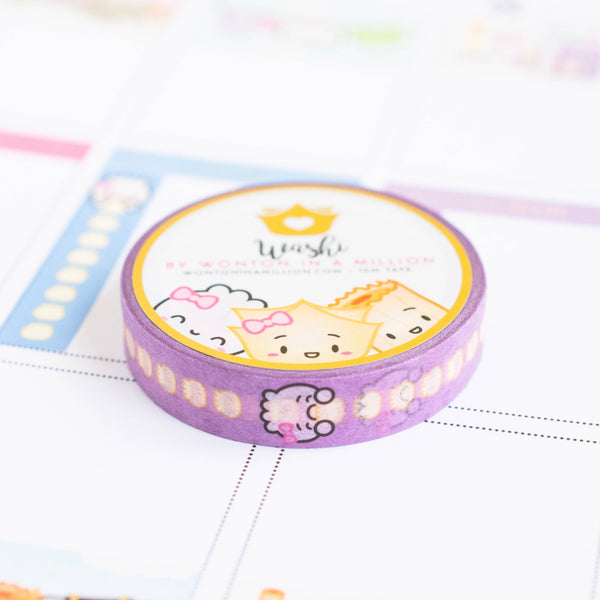 Functional Purple Dumpling Checklist Vertical Washi (10mm)