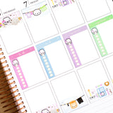 Functional Blue Dumpling Checklist Vertical Washi (10mm)
