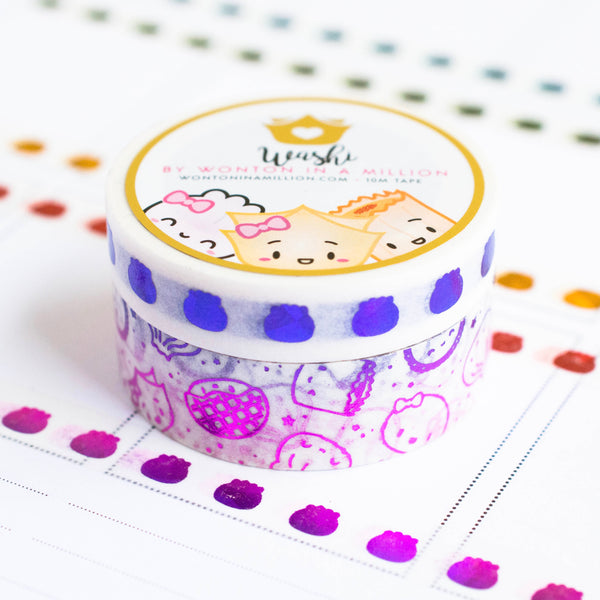 Pride Collection - Magenta Violet Washi (Set Of 2) [note: has foil ghosting]