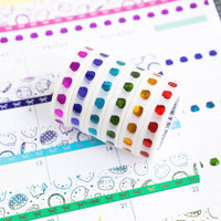 Pride Collection - Steamie Doubloon Rainbow 10mm Washi (Set Of 6) [note: has foil ghosting]