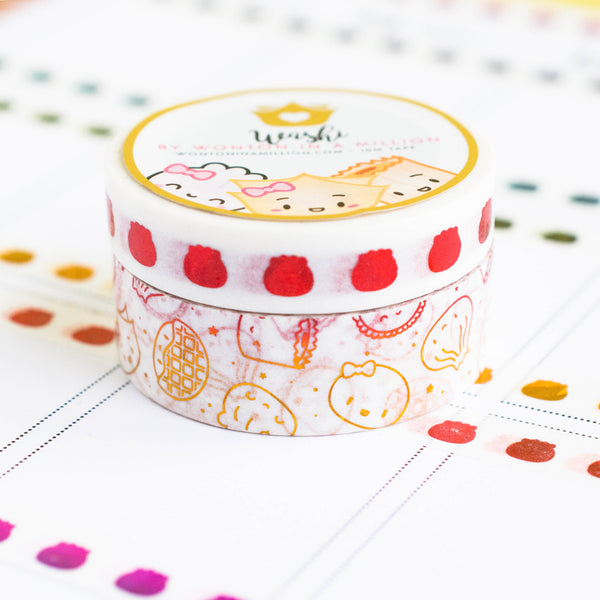 Pride Collection - Gold Red Washi (Set Of 2) [note: has foil ghosting]