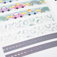 Rainbow Roadtrip - Steam Team Holo Confetti Outlines (15mm)