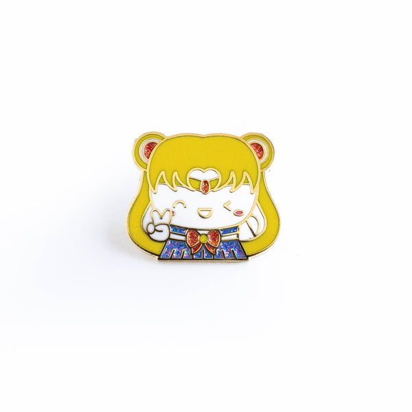 Sailor Moon Gold Enamel Pin