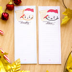 Naughty & Nice 3x8 Sticky Notes (Set Of 2)