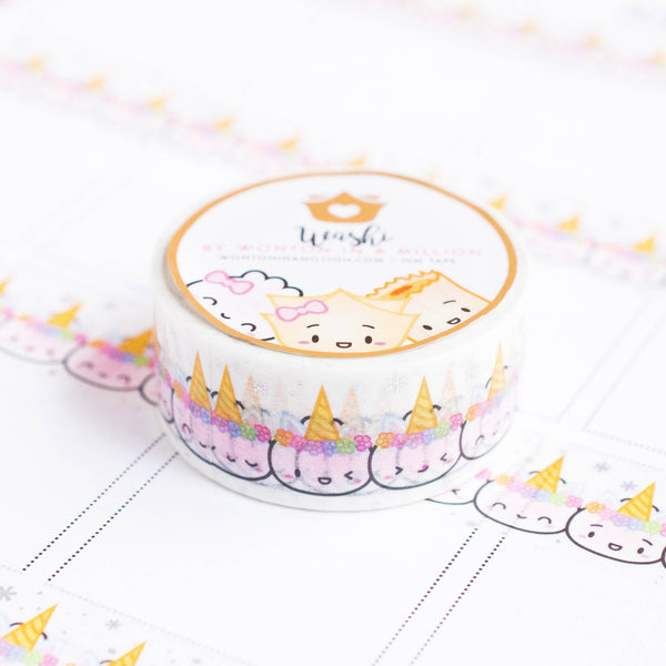 Unicorn Steamie Emojis Holo Foiled Washi (20mm)