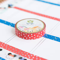 Polka Dot Confetti Red Washi (10mm)