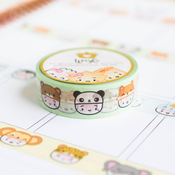 Steamie's Hats - Furry Friends Washi 15mm