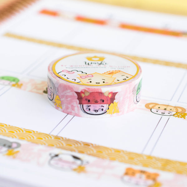 Steamie's Zodiac Hats Washi (15mm)