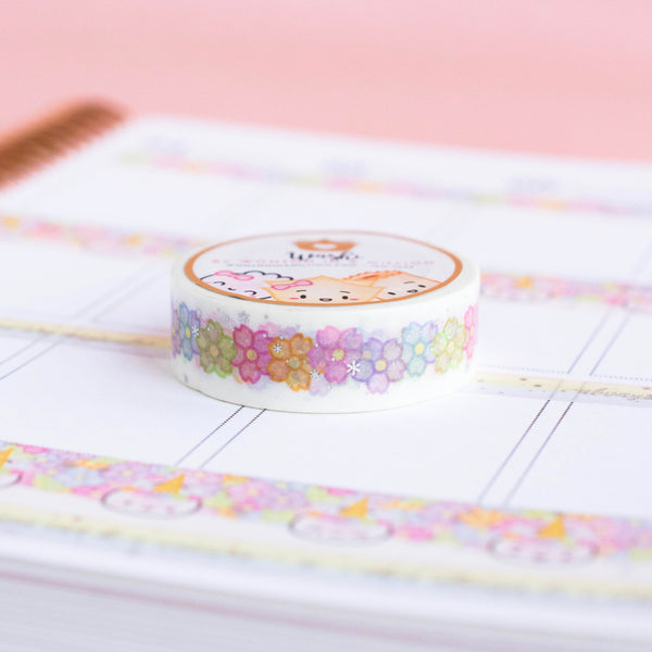Unicorn Floral Washi (15mm)