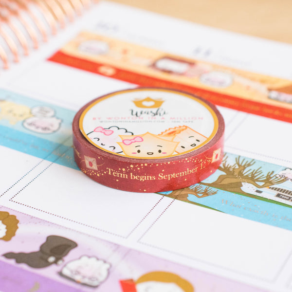 [BOOK 1] Hagao Potter & The Sorcerer's Bun Quotes Washi (10mm)