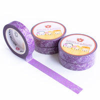 Royal Purple Wonton Outlines Washi (10mm)