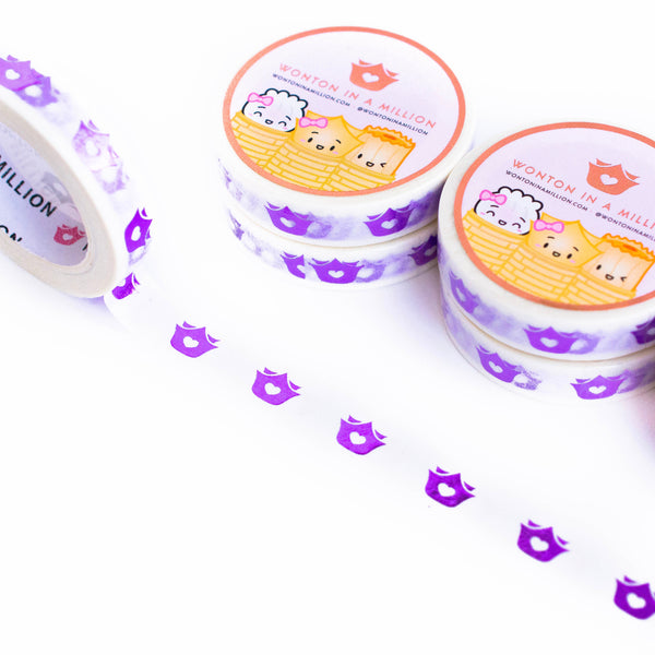 Royal Purple Wonton Logos Washi (10mm)