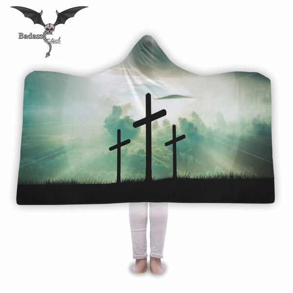Awesome Crosses Hooded Blanket Hooded Blanket Badass Stock