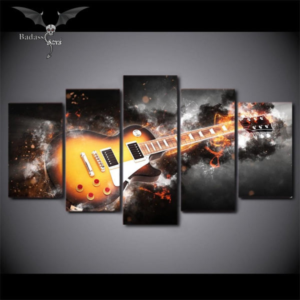 Beautiful Guitar 5 pieces canvas print canvas Badass Stock