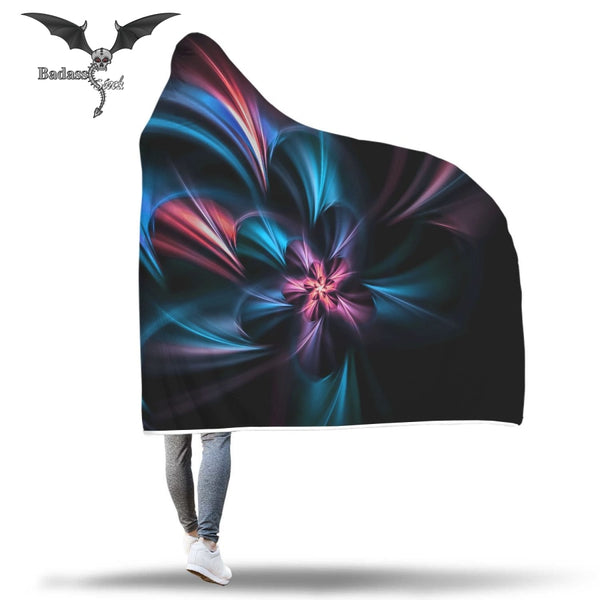 Blue Light Hooded Blanket Hooded Blanket Badass Stock