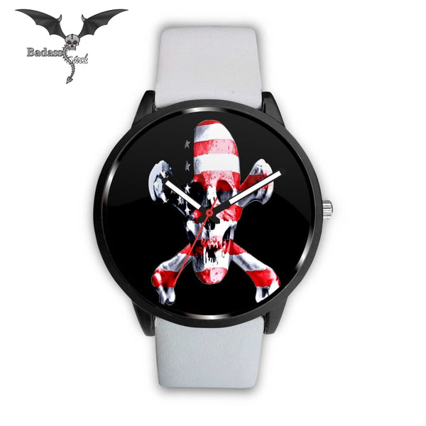 Jolly Roger USA Flag Watch Watch Badass Stock