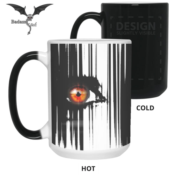 Orange Eyes 15 oz. Color Changing Mug Drinkware Badass Stock