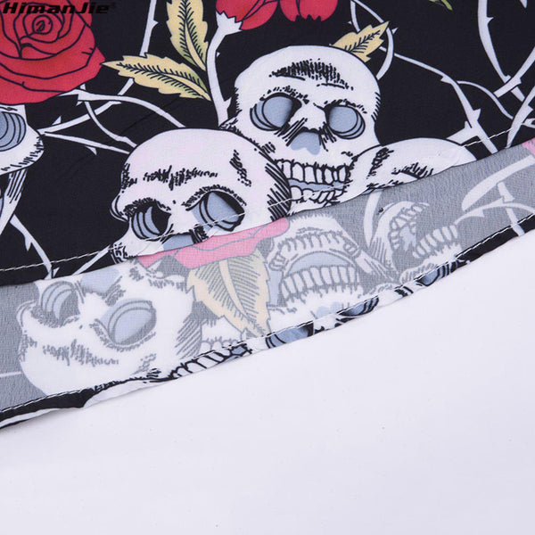 Vintage Skull and Roses Dresses dress Badass Stock