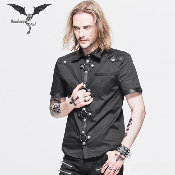 Short Sleeves Black Shirt shirt Badass Stock