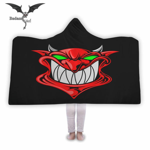 Smilling Devil Hooded Blanket Hooded Blanket Badass Stock