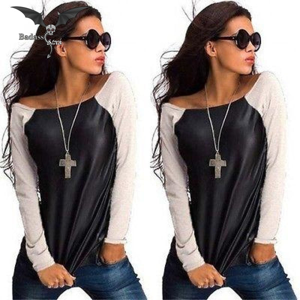 Leather Style Shirt For Women 200000791 Badass Stock