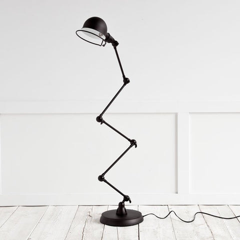 Dominica Floor Lamp, Black Metal